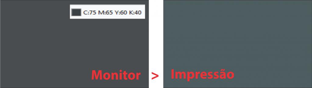 cinza monitorimpressão