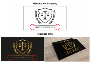 Instrução Hot Stamping l Atual Card
