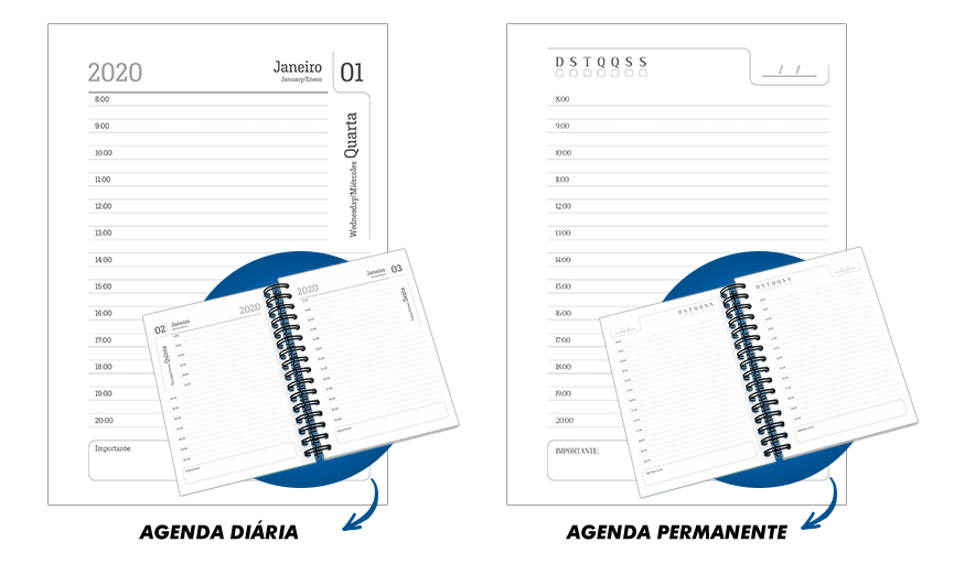 Agendas l Modelo Diária e Modelo Permanente l Gráfica Atual Card