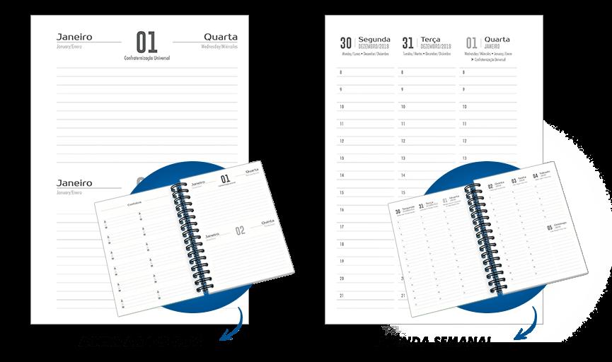 Agendas l Modelo Semanal e Dois Dias por Semana l Gráfica Atual Card
