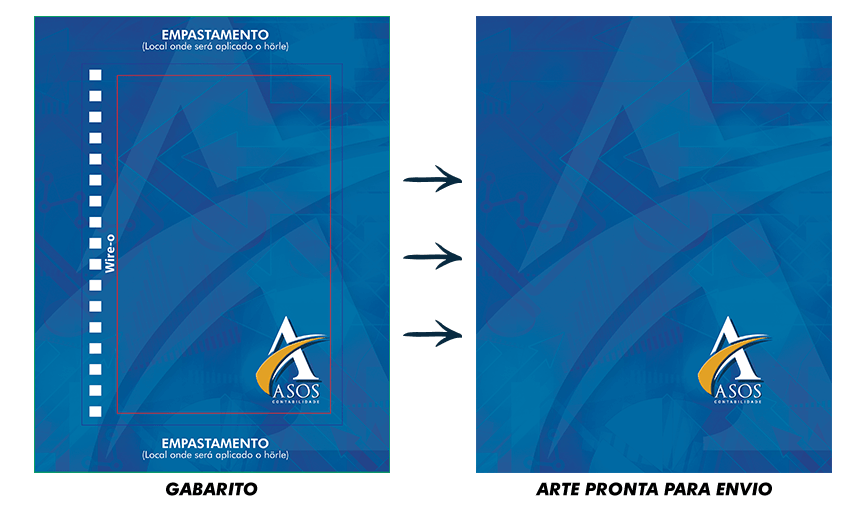 Agendas Personalizadas l Gabarito e Arte Finalizada l Gráfica Atual Card