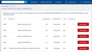 Exemplo de listagem Compra Fácil | Atual Card